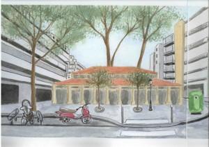 Projet de restructuration de l'ancienne école Gabriel Lamé et de sa cour en halle et placette
