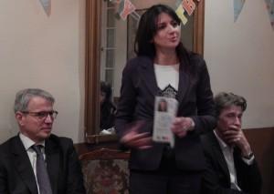Valérie Montandon entourée de François Haab à droite et Franck Margain, à gauche