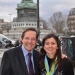 Christian Saint-Etienne et Valérie Montandon, place de la Bastille