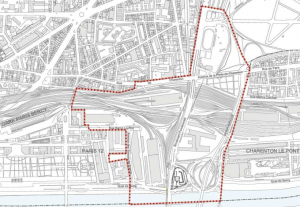 périmètre de la ZAC Bercy-Charenton (mai 2016) - plan annexé à la délibération