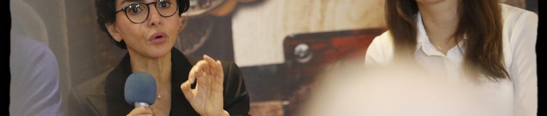 Exclusif - © Alain Guizard. Rachida Dati participe à un café politique dans le 12ème arrondissement aux côtés de Valérie Montandon, Franck Margain, Matthieu Seingier et Corinne Atlan Tapiero. Paris, The Godfather, le 16 décembre 2019.